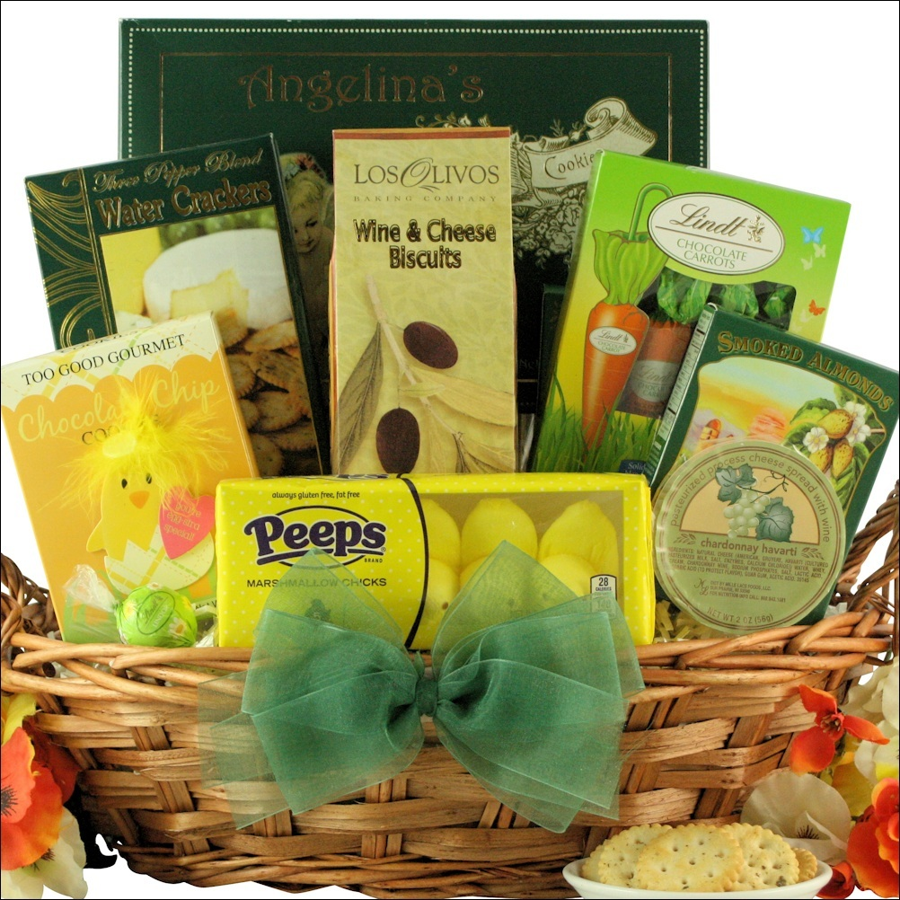 Easter spring gift baskets gourmet easter wishes gift basket negle Choice Image