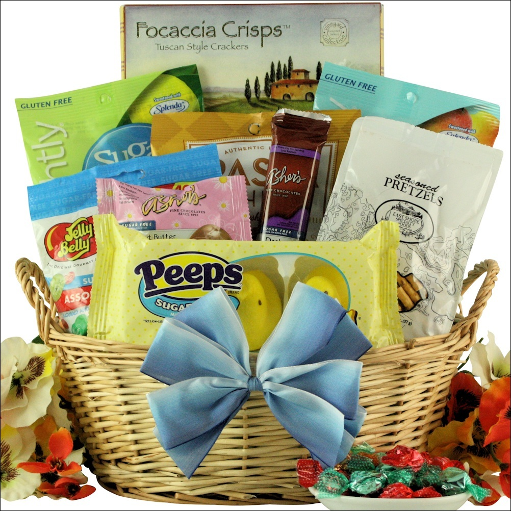 Easter spring gift baskets healthy easter sugar free gift basket healthy easter sugar free gift basket negle Image collections