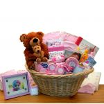 """Deluxe Welcome Home Precious  Baby Basket   -   Available in Pink, Blue or Teal/ Yellow"""