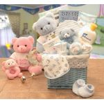 """Sweet Baby of Mine New Baby Basket     Available in Girl/pink or Boy/ Blue"""