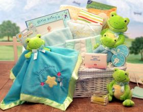 """Just Hoppin Around  Baby Hamper - Large     Available in Little Prince/Blue  or Little Princess/ Pink themes. """