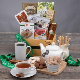 GET WELL SOON: GOURMET COFFEE & TEA GIFT BASKET