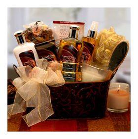 Caramel & Crème Bliss Spa Gift Baske